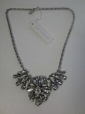 Ann Taylor Crystal fan Statement Necklace NWT $49.50