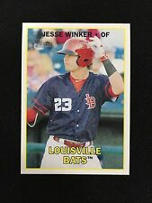 "JESSE WINKER ROOKIE MINOR LEAGUE ""LOUISVILLE"" TOPPS HERITAGE RC BASEBALL CARD"