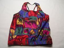 Saucony Women's SMALL S Colorful Abstract  Tank Top CYCLING bike jersey