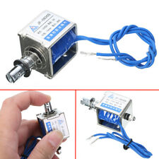 JF-0826B 12V/2A Reset 10mm Push Pull Type Open Frame Solenoid Electromagnet Tool