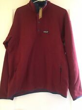 Nwt Patagonia Lightweight Better Sweater Marsupial Fleece Pullover Oxide Red L