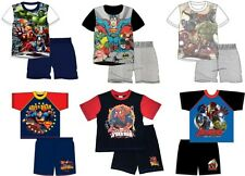 BNWT OFFICIAL BOYS  / SUPERMAN / MARVEL AVENGERS SHORT PYJAMAS 4 -10 YRS PJS