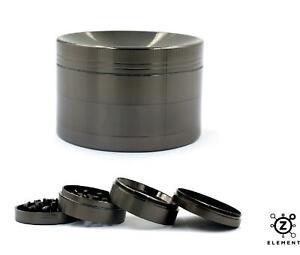 63mm Gun Metal Grey Aluminium Hand Grinder 4 Part Tobacco Herb Crusher Muller IE