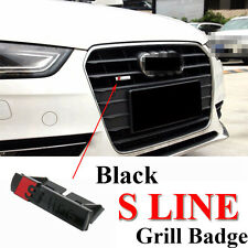 1 Ps Front Kidney Grill S Line Sline Metal Matt Black Alloy Badge Decal For Audi