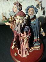Duncan Royale Santas THE MAGI RARE Limited Collectible porcelain figurine NOS