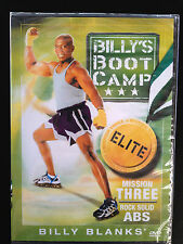 BILLY BLANKS~BILLY'S BOOT CAMP ~ MISSION THREE ~ ROCK SOLID ABS ~ BRAND NEW DVD