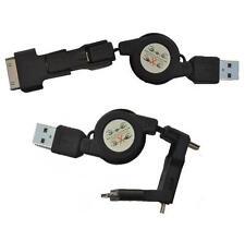 RALLONGE USB RETRACTABLE vers MiniUSB+MicroUSB+iPhone/iPod pour MOBILES,PDAs...