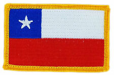 FLAG PATCH PATCHES CHILE CHILEAN IRON ON COUNTRY EMBROIDERED WORLD FLAG