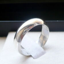 5mm 925 STERLING SILVER MEN'S WOMEN'S WEDDING BAND RING SIZES 5-13 PERSONALIZED