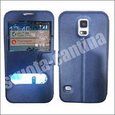 CUSTODIA FLIP COVER 2 FINESTRE PER smartphone SAMSUNG GALAXY S3 S4 S5 S6 S7 EDGE