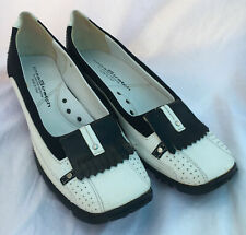 Linea Stretch by Walter Genuin Italy - Women's Golf Shoes Size 7 Wh/Blk NEW 225