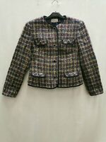 Delbury by Alexon ladies blazer multicoloured two buttons wool size 8-10