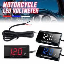 Mini 12V LED Waterproof Display Voltmeter For Car Voltage Gauge Panel Meter