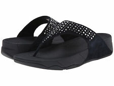 NEW Black Women's  FitFlop Fit Flop rhinestone sandals size 7 Free Shipping