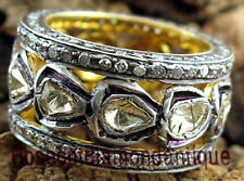 VICTORIAN 2.78ct ANTIQUE ROSE CUT DIAMOND AMAZING DESIGN POLKI WEDDING RING BAND