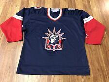 MENS LARGE - Vtg New York Rangers Lady Liberty Starter Sewn on Hockey Jersey