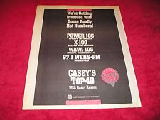 CASEY KASEM- 1988 US Full-Page Ad 'Casey's Top 40 ' Radio Show (Radio & Records)