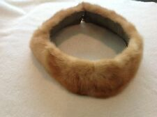 "Vintage ladies Fur Collar Real Fur 28.l5"" long  Green Fabric lined"