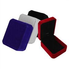 Lot of 1,5,10Pcs Luxury Velvet Necklace Boxes Pendant Jewelry Presentation Gift