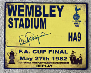 Steve Perryman Signed FA Cup Final  Tottenham Hotspur - AFTAL OnlineCOA