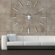 design wand uhr wohnzimmer wanduhr spiegel edelstahl wandtattoo deko xxl 3d de - Wohnzimmer Wanduhr