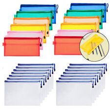 12/15PCS A4 Letter File Folder Paper Document Organizer Bags Storage Pocket Bag