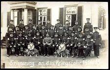 carte-photo guerre 1914-1918 .Allemagne. Fanfare . Erinnerung an das Kriegsjahr