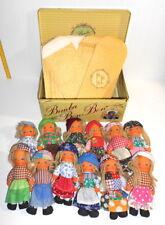 BIMBA BON BON 1979 Gig Italy tin box with 12 ragdolls - scatola latta 12 bambole