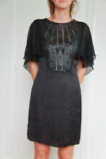 luxueuse robe satin noir MET AND FRIENDS frio taille M NEUF ETIQUETTE val 170€