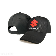 Suzuki CARBON Black Baseball Cap Embroidered Auto Moto Logo Hat Gift Mens Womens