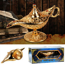 Metal Carved Aladdin Lamp Magic Vintage Home Tea Oil Pot Arabian Arts Craft Rare