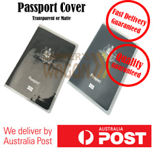 Clear Transparent Matte Passport Cover Protector Travel Holder Organiser Wallet
