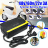 48V 3A Lithium Battery Charger Adapter For Electric Scooters Unicycles Ebike