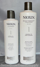 Nioxin System 1 Cleanser 10.1 oz and Scalp Therapy Conditioner 16.9oz Set -2 pk