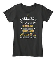 Nurse Telling An Angry Grandma To Calm D Women's Premium Tee T-Shirt