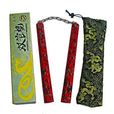 High Quality Red Camouflage EVA Foam Nunchakus Bruce Lee Martial Arts Nunchucks
