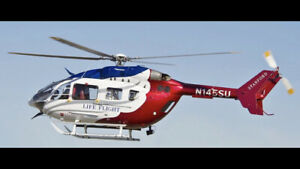 Scale RC R/C EC-145 500 size Helicopter build W/mechs Amazing Detail Heli