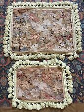 "Antique French Aubusson Stayl Tapestry Needle Point Cushion 16"" By 20"" /"