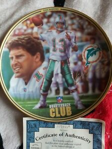 MIAMI DOLPHINS 1996 Bradford Exchange Dan Marino Collector's Plate