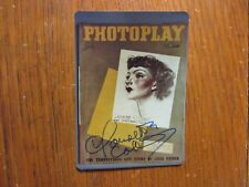 "Claudette Colbert(Died-1996)("" It Happened One Night"")Signed 3 X 5 Color Photo"
