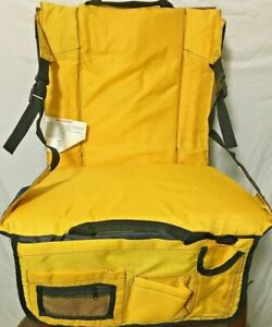 Athletic Works Yellow  Stadium Bleacher Chair Seat w/ Arms & Shoulder Strap