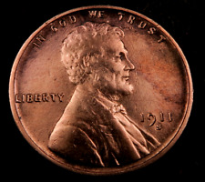 1911-S Lincoln Wheat Penny Cent // Choice BU (red) // (W1010)