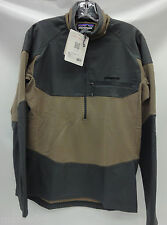 Patagonia Mens L/S R1 Field 1/4 Zip Pullover 52720 Ash Tan Size Extra Large