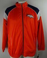 Denver Broncos NFL Men's Orange Full-Zip Track Jacket G-III