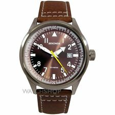 Gents Sekonda Brown Dial Date Leather Strap Mens Sports Gift Wrist 3882 Watch