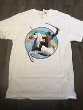 Deadpool Riding A Unicorn T-Shirts Marvel Comics Tee US Men's Clothing M