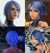 Game Kingdom Hearts 2 Aqua Cosplay Props Wig Ice Blue Short Hair Costume Wigs