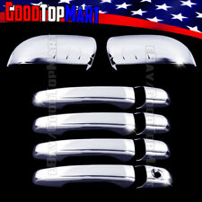 For Ford EDGE 2011-2013 2014 Chrome Covers Set Half Mirrors + 4 Door Handles w/o
