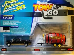 Johnny Lightning Tow & Go 2003 Ford F-250 Super Cab Lariat With Barrel...