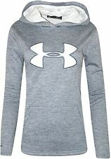 Under Armour Womens Gym Casual Hoody Running Pullover Hooded Top Light Blue
